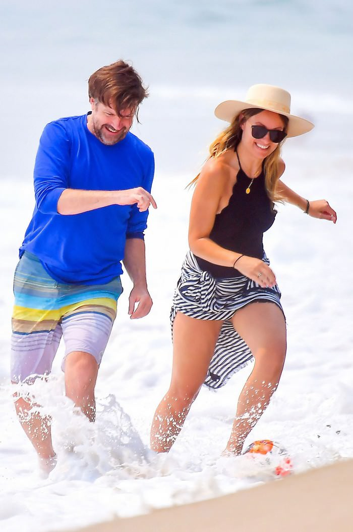 Olivia Wilde Looks Incredible as She Plays on the Beach with Jason Sudeikis