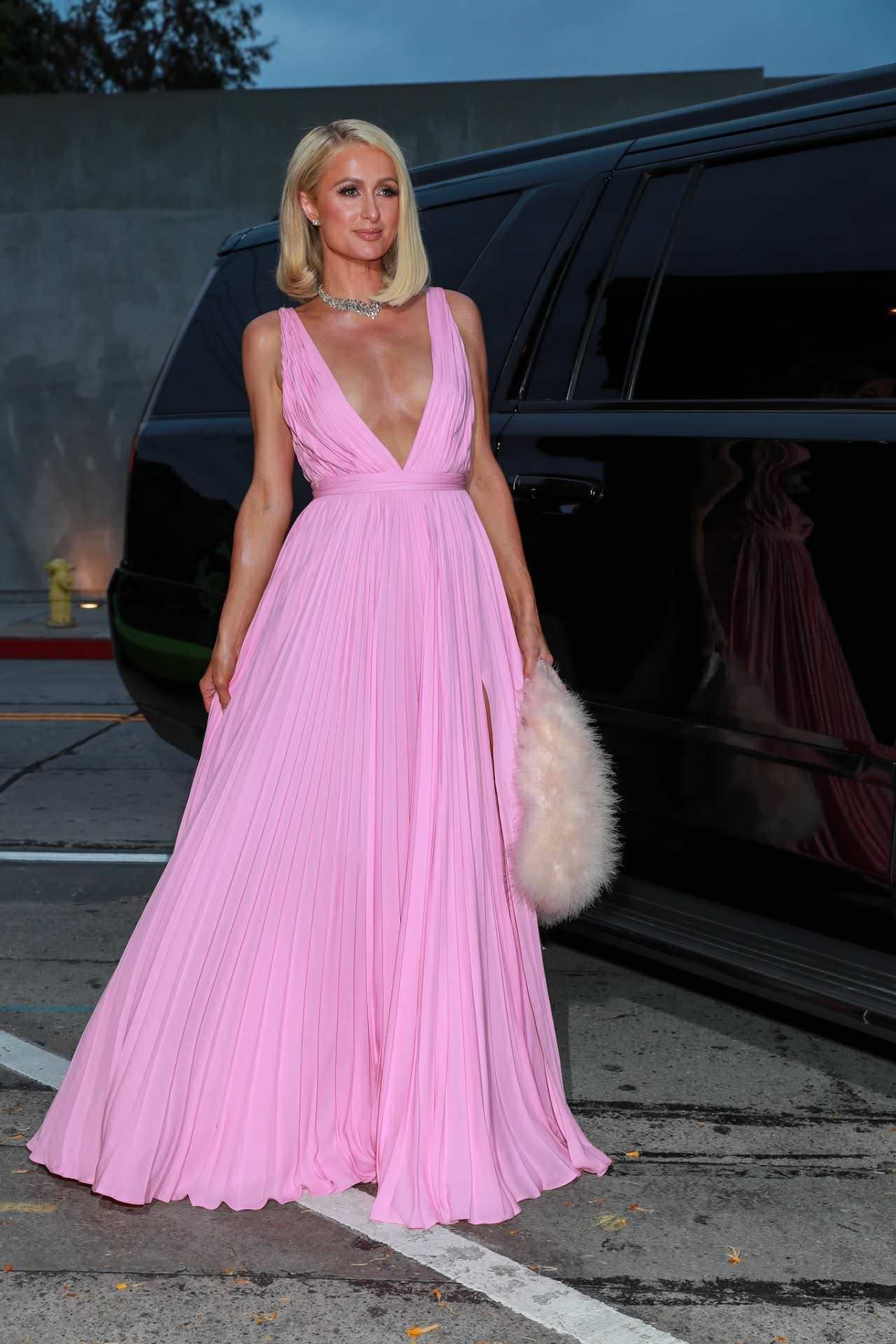 Paris Hilton Wowed in a Pink Gown by Givenchy at Craig's