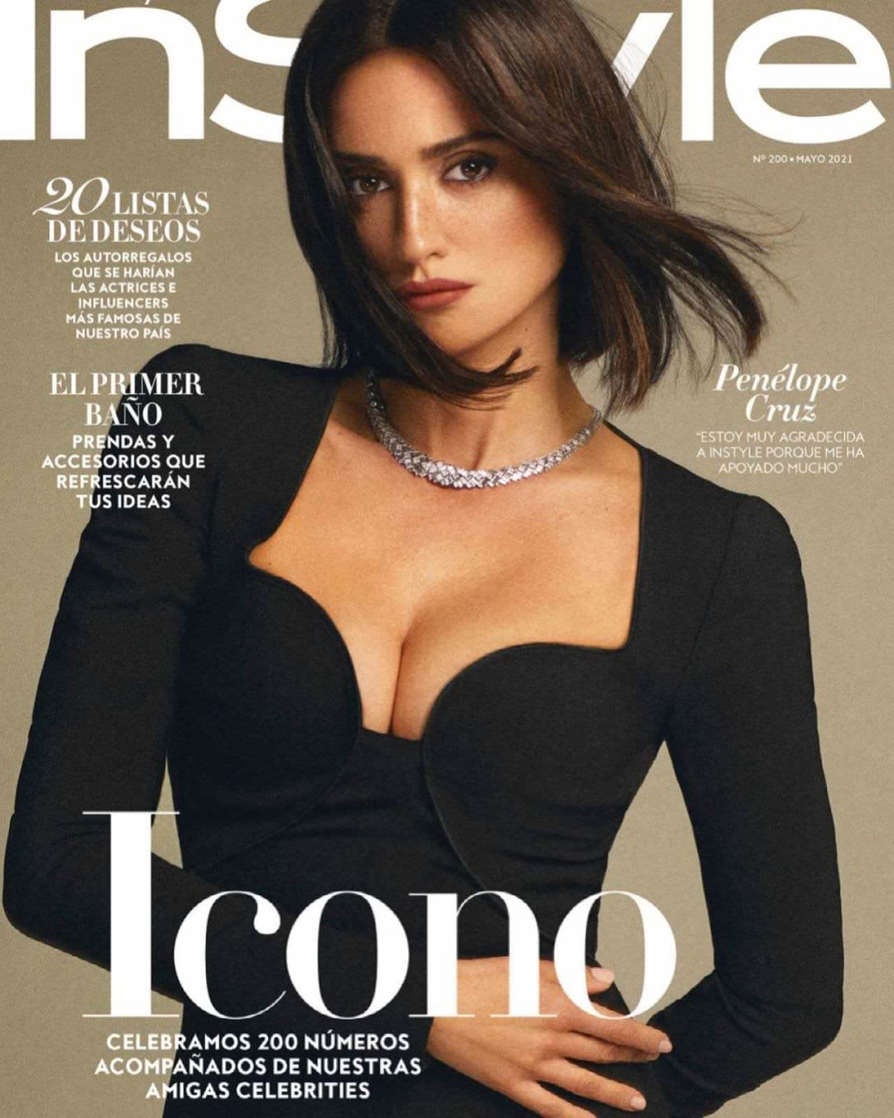 Penelope Cruz Posing for InStyle Spain May 2021