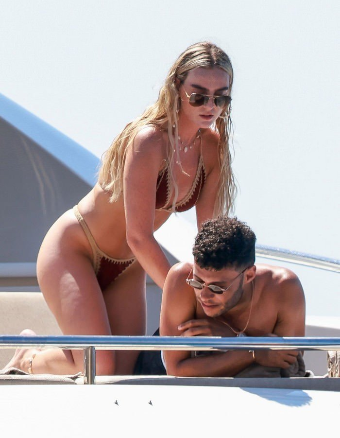 Perrie Edwards with her BF Alex Oxlade-Chamberlain on a Holiday in Ibiza