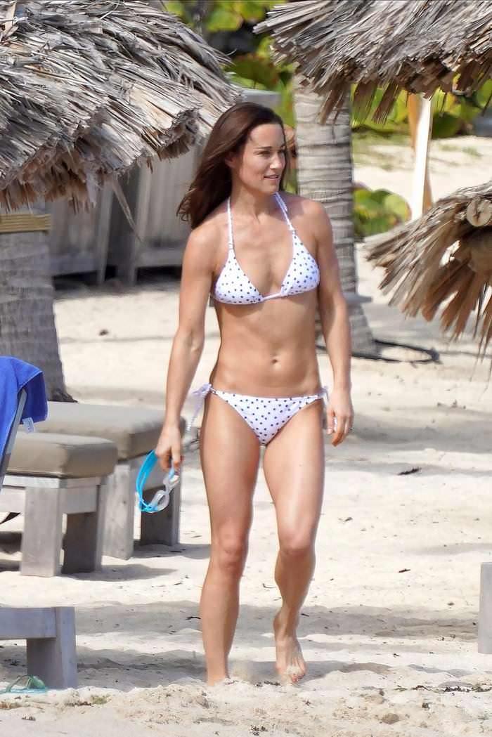 Pippa Middleton in a Bikini at the Beach in St. Barts