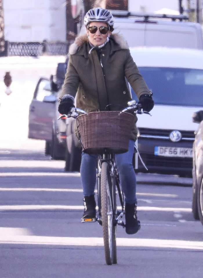 Pippa Middleton Riding her Bike in West London