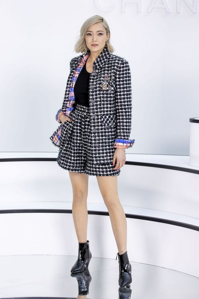 Pom Klementieff Attends Chanel Show at PFW