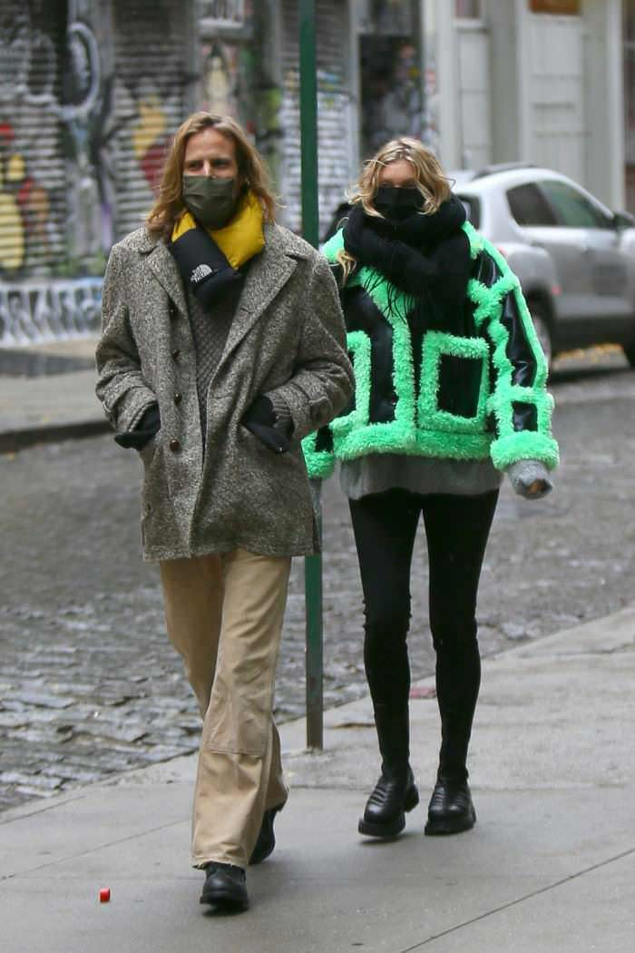 Pregnant Elsa Hosk and Tom Daly Strolls Through Gloomy NYC