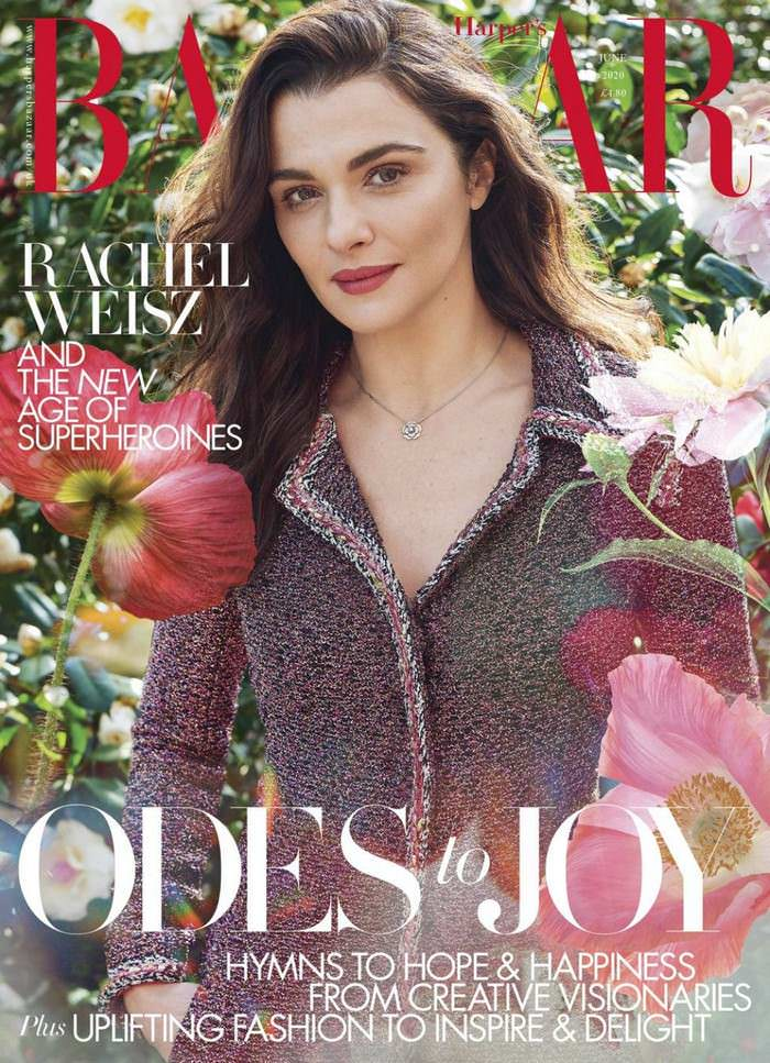 Rachel Weisz Posing in Harper's Bazaar UK June 2020 Edition