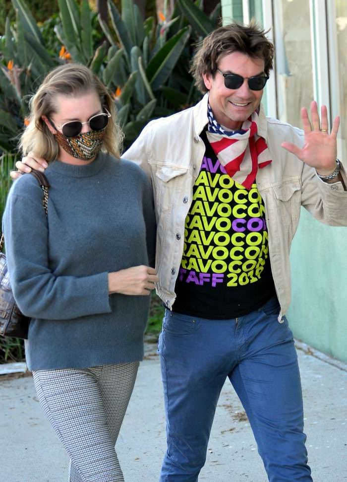 Rebecca Romijn and Jerry O'Connell Out to Stroll in Los Angeles