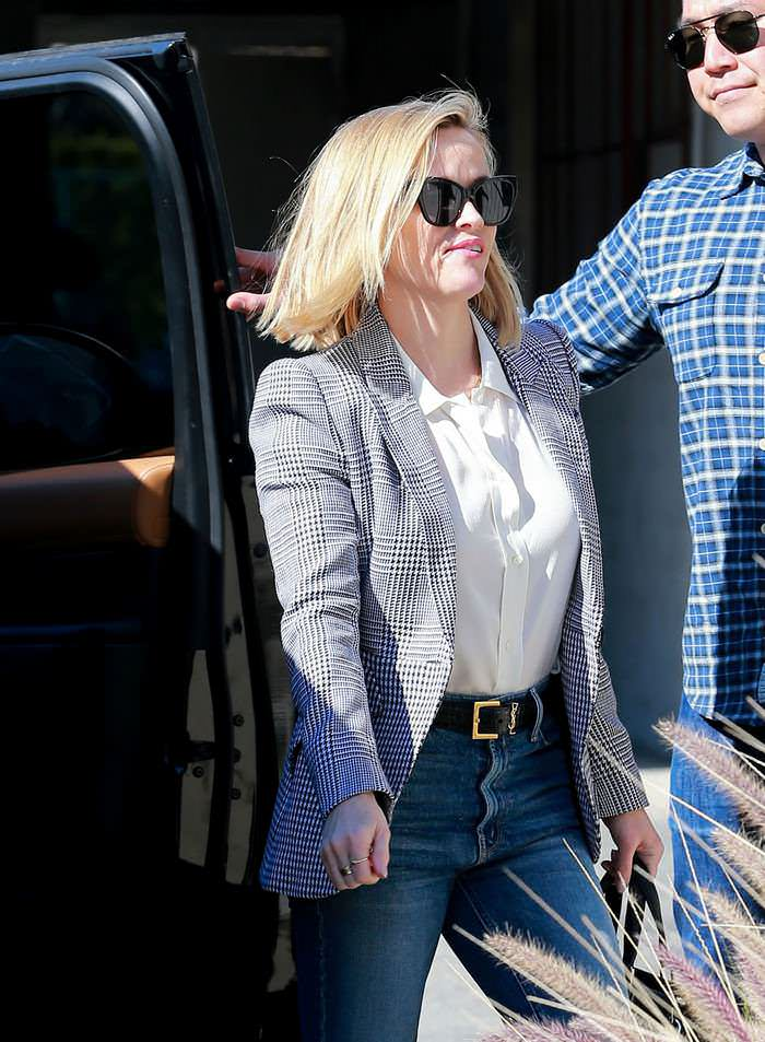 Reese Witherspoon Office Chic Style as She Headed Into Business Meetings in LA