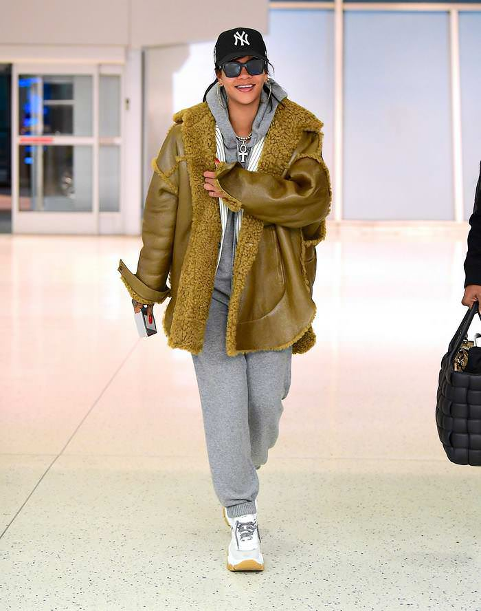 Rihanna at the JFK Airport in New York