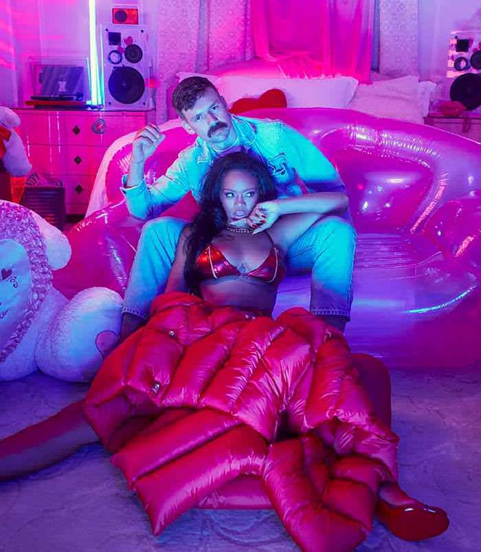 Rihanna in Savage X Fenty Valentine's Day January 2020