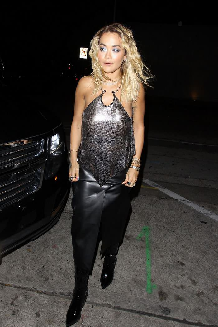 Rita Ora Arrives for Dinner at Craig's in West Hollywood
