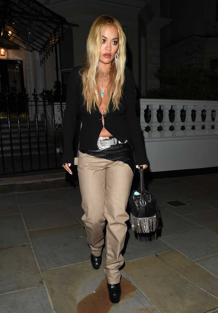 Rita Ora Wowed Rock Glamour as she Enjoyed a Night Out in London