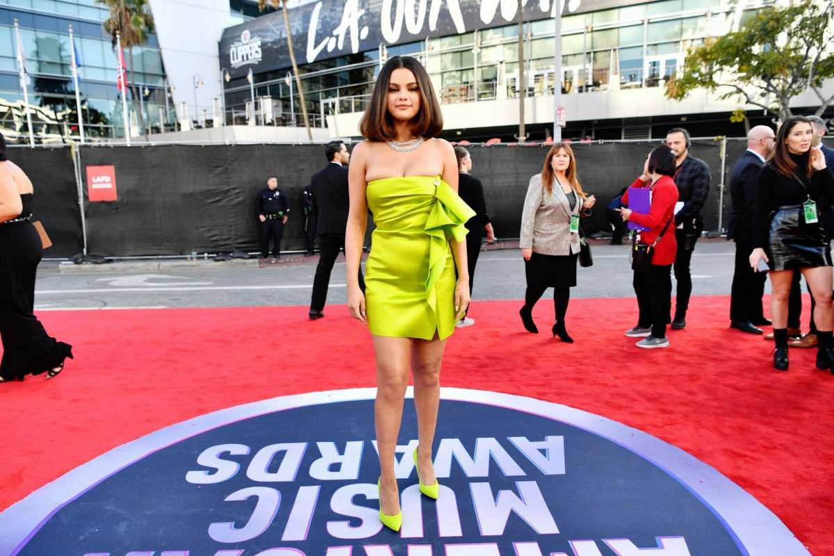Selena Gomez at American Music Awards 2019 at Microsoft Theater in Los Angeles