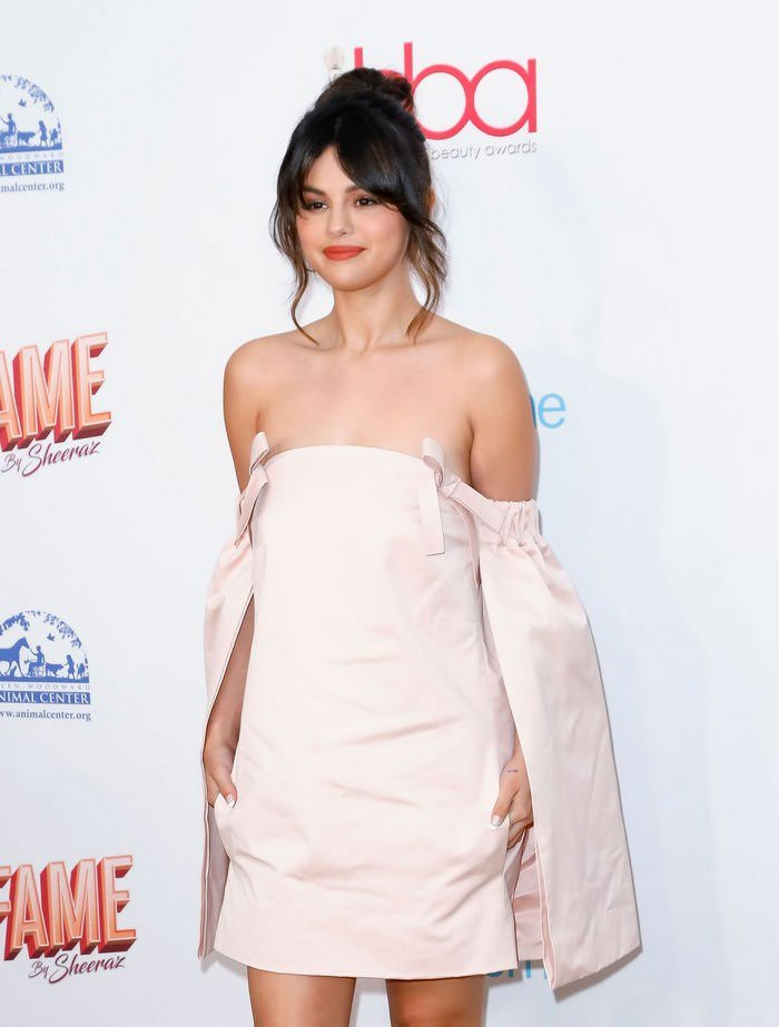 Selena Gomez at Hollywood Beauty Awards 2020 at The Taglyan Complex