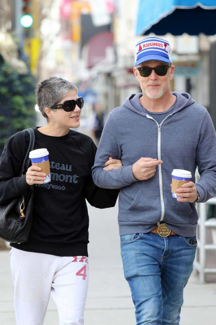 Selma Blair in a Black Jumper & Jogging Bottoms Out for a Coffee in LA