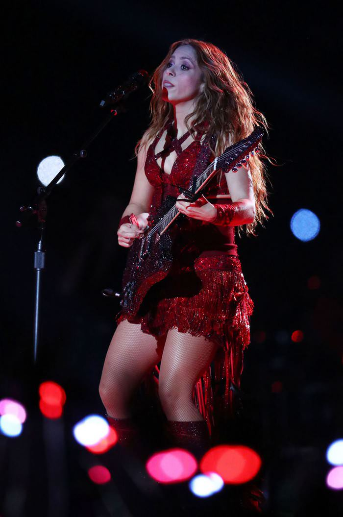 Shakira Performs During the Super Bowl LIV Halftime at Kansas City Chiefs vs. San Francisco 49ers