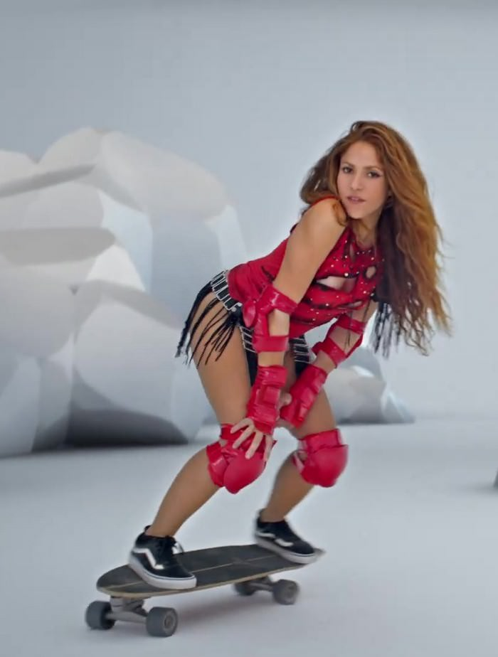 Shakira Shows her Skateboarding Skills in the New Black Eyed Peas Music Video