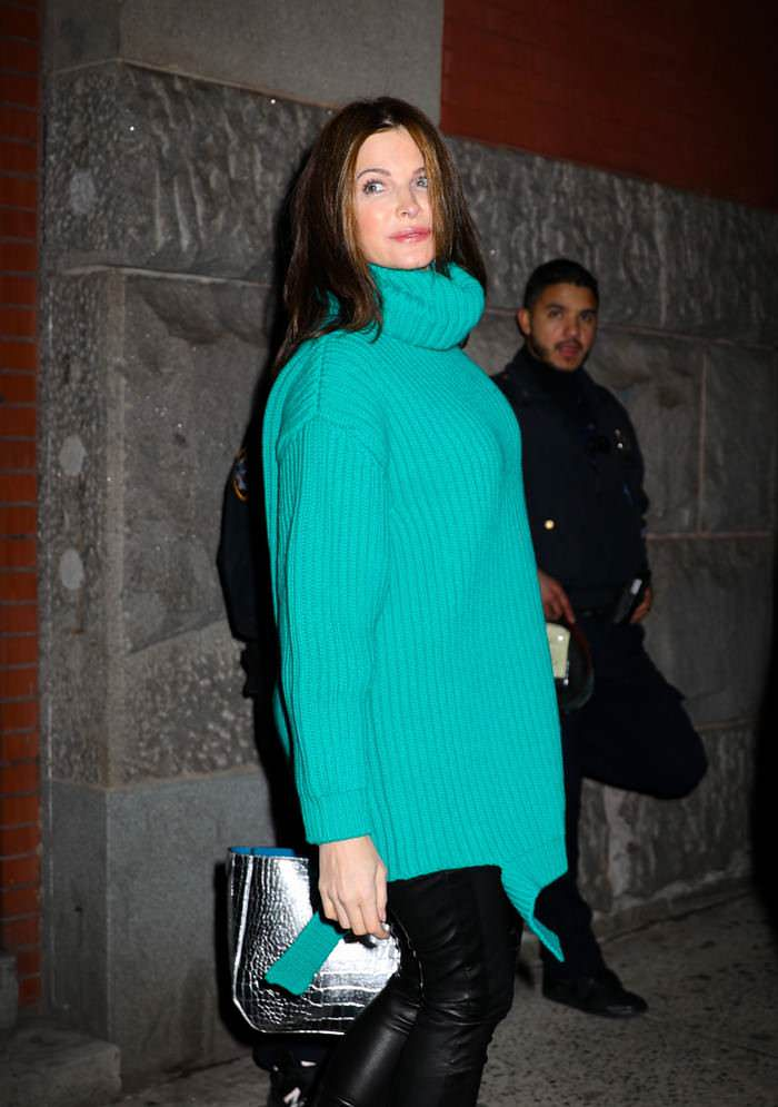 Stephanie Seymour Leaving the Marc Jacobs Fashion Show
