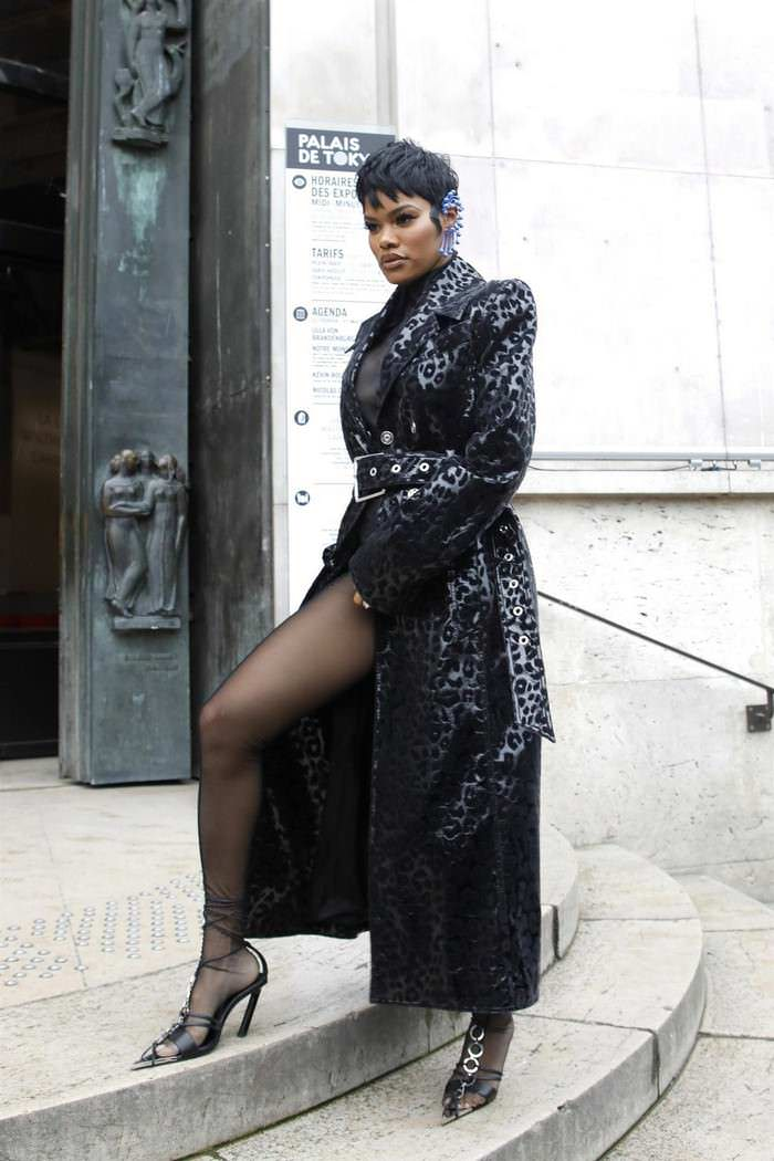 Teyana Taylor at Thierry Mugler Show in Paris