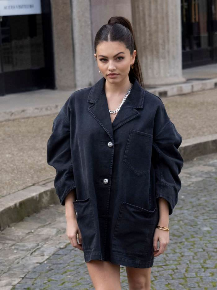 Thylane Blondeau Attends Miu Miu Show at Paris Fashion Week