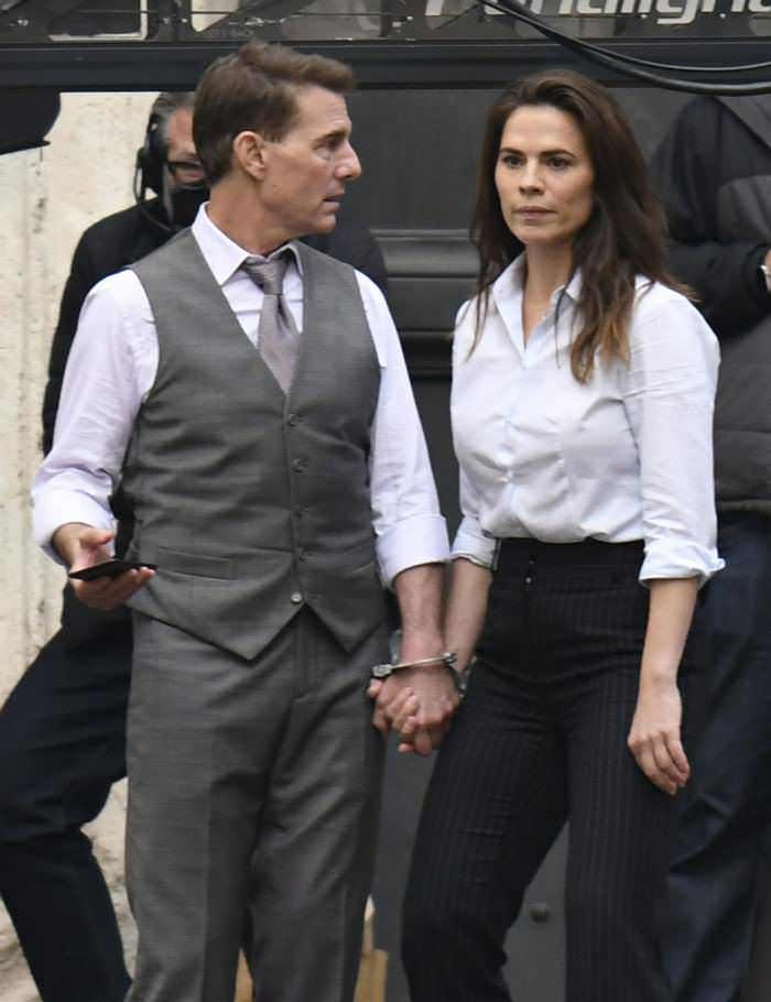 Tom Cruise and Hayley Atwell are Handcuffed Together in Mission: Impossible 7