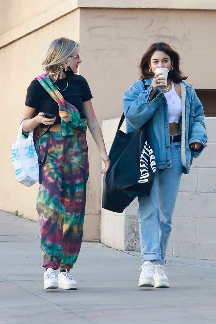 Vanessa Hudgens and GG Magree Leaving Urban Outfitters in Burbank