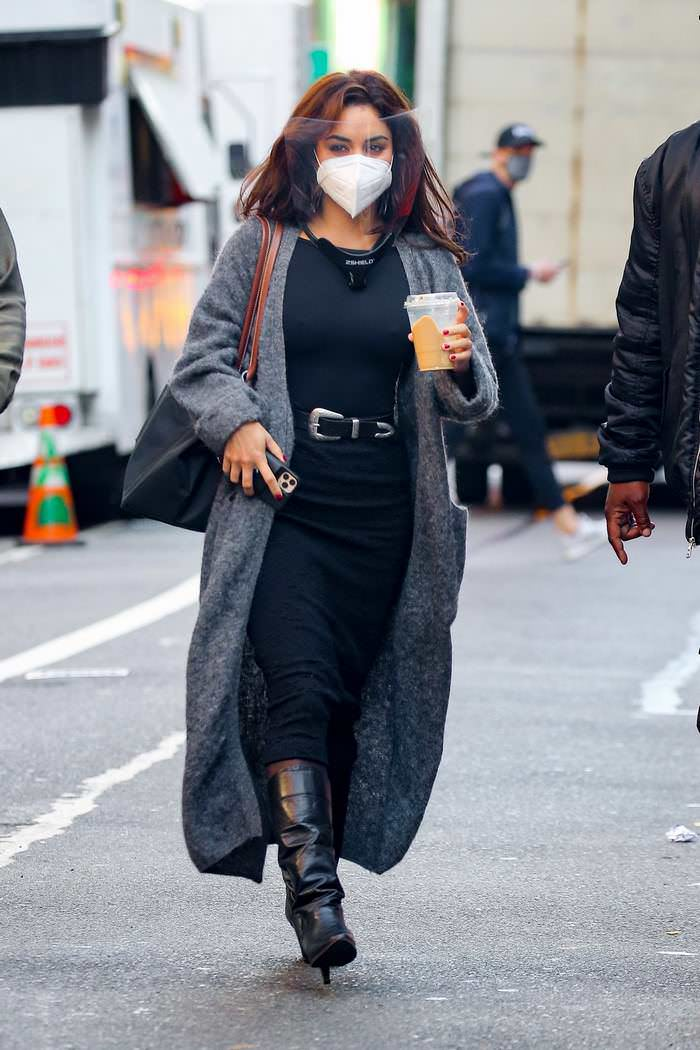 Vanessa Hudgens Took All Precautions When She Arrives on the Set of Tick, Tick…Boom! in NYC