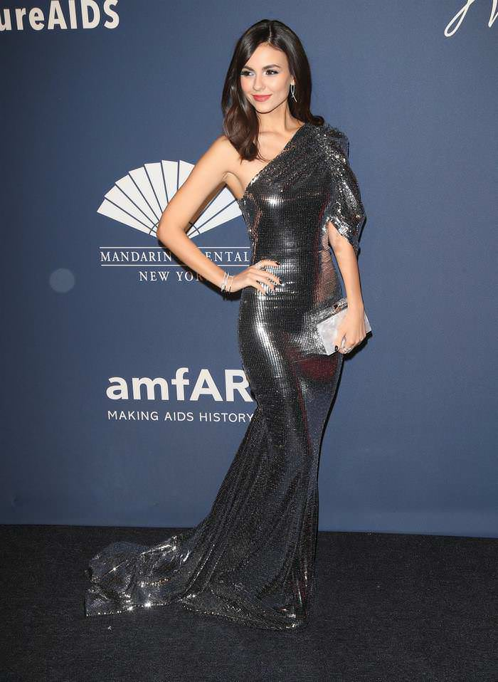Victoria Justice at 22nd Annual amfAR Gala Benefit For AIDS Research in NY