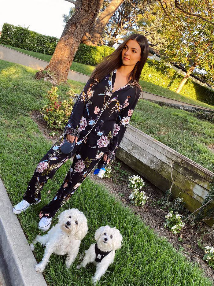 Victoria Justice with her Puppies on Social Media