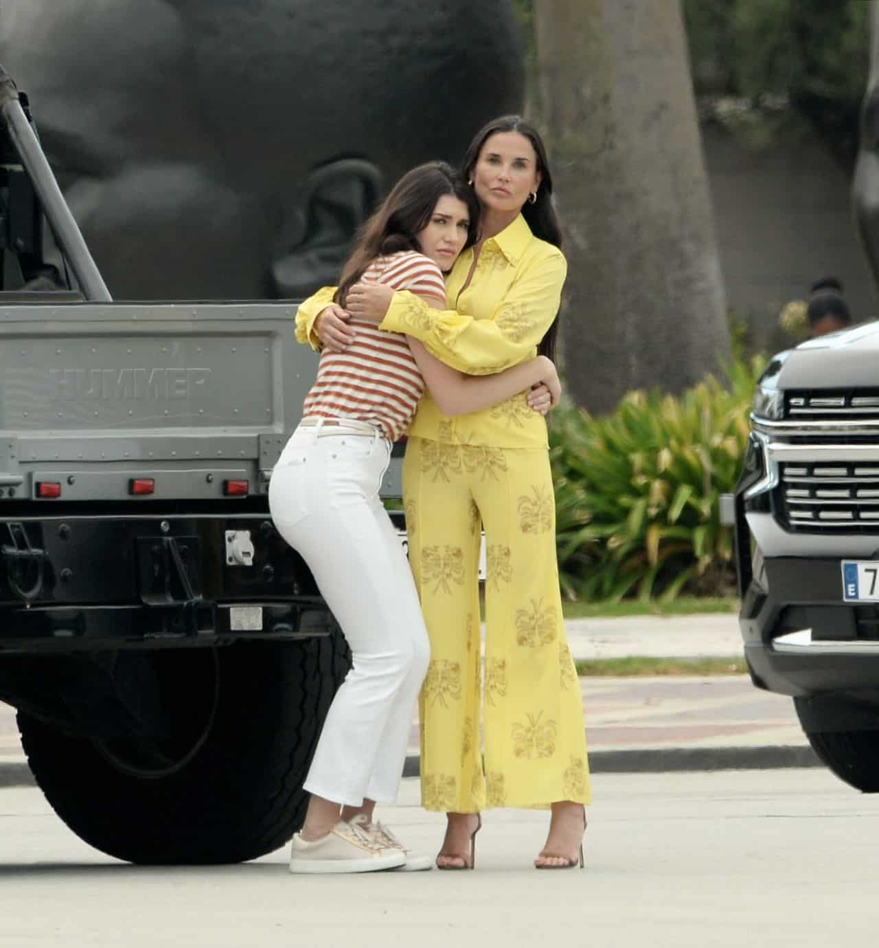 """Demi Moore at """"The Unbearable Weight Of Massive Talent"""" Set in LA"""