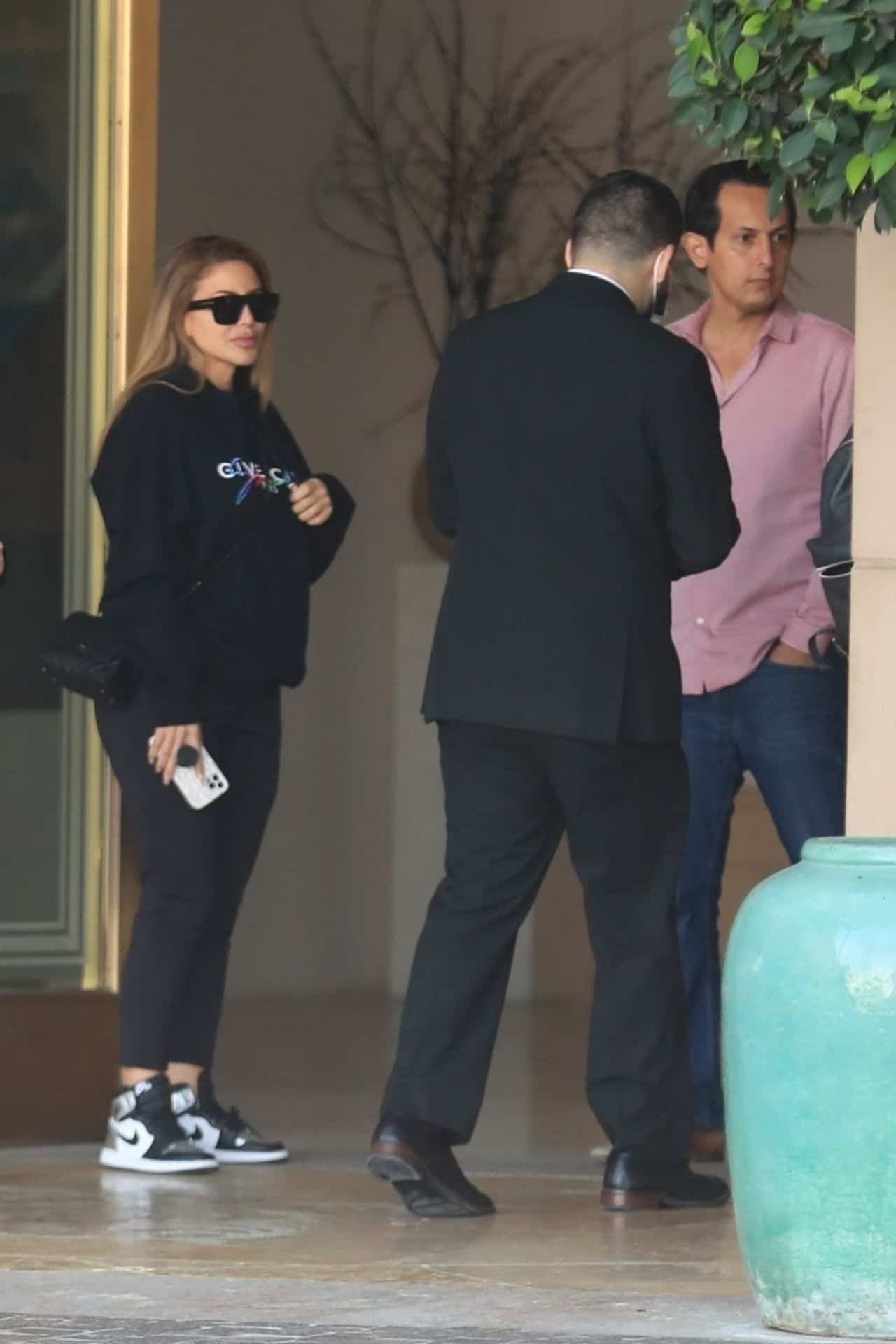 Larsa Pippen Standing Outside The Montage Hotel in Beverly Hills