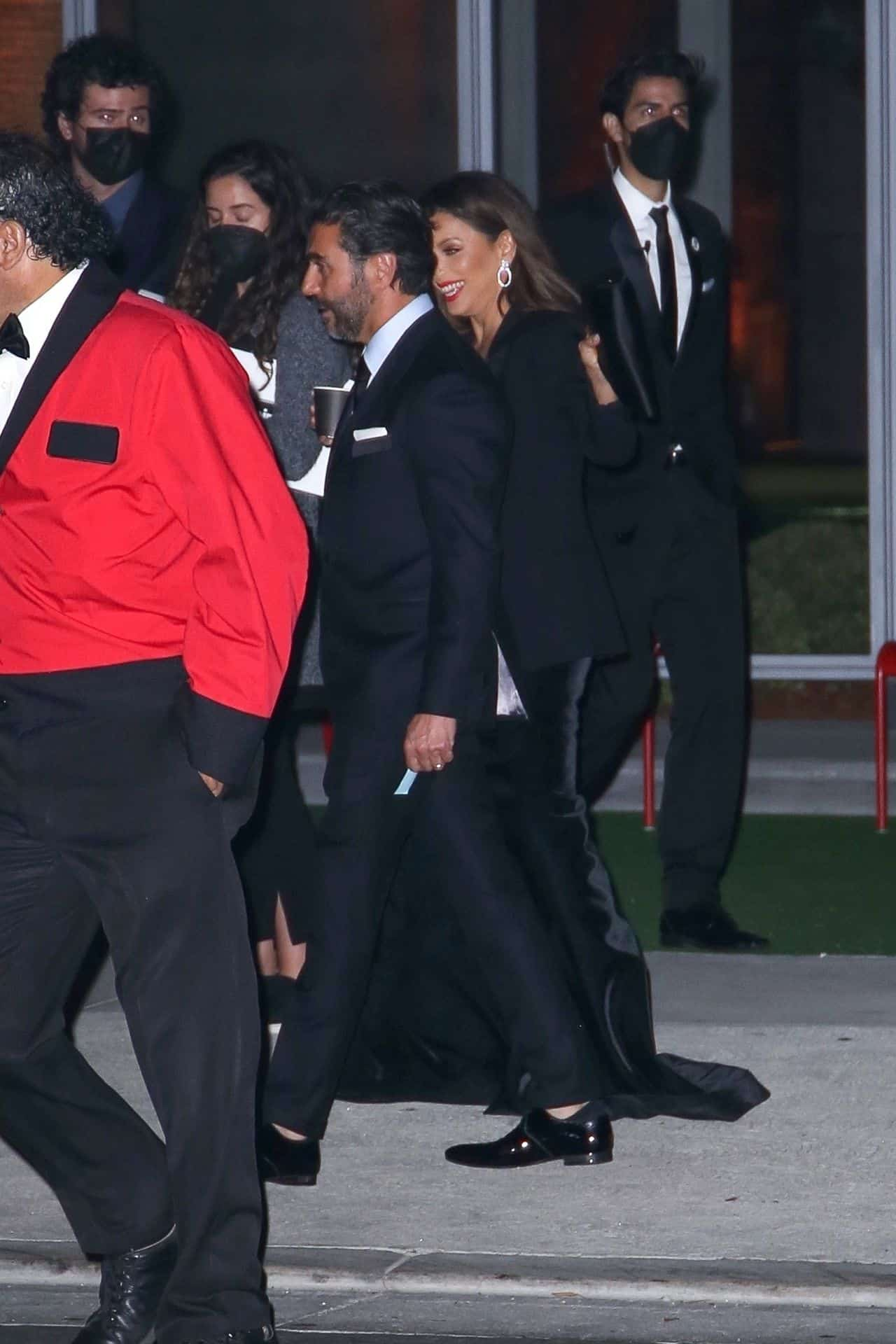 Eva Longoria Leaves the Academy Museum of Motion Pictures Opening Gala