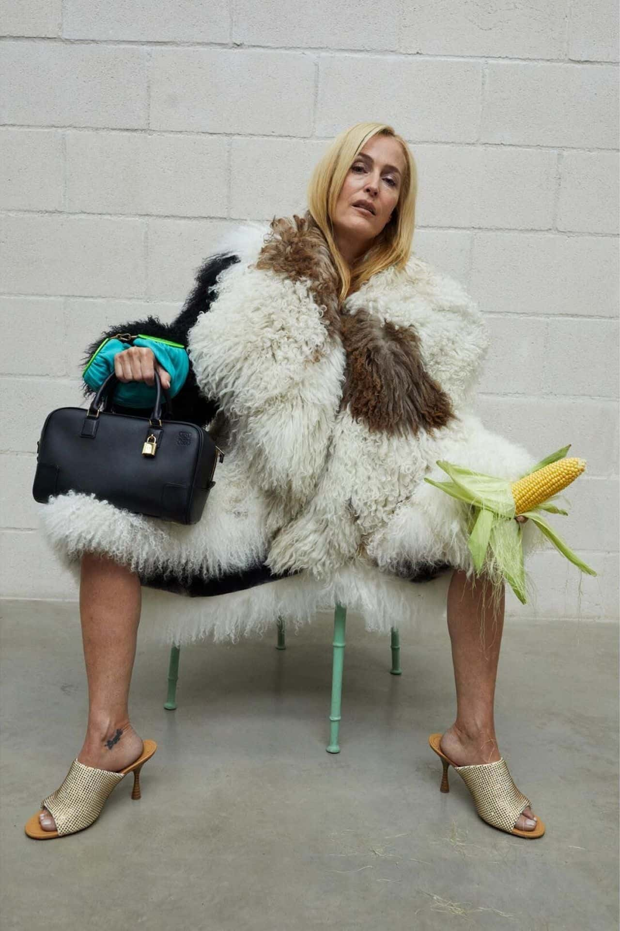 Gillian Anderson Posed for LOEWE's 2021 Campaign