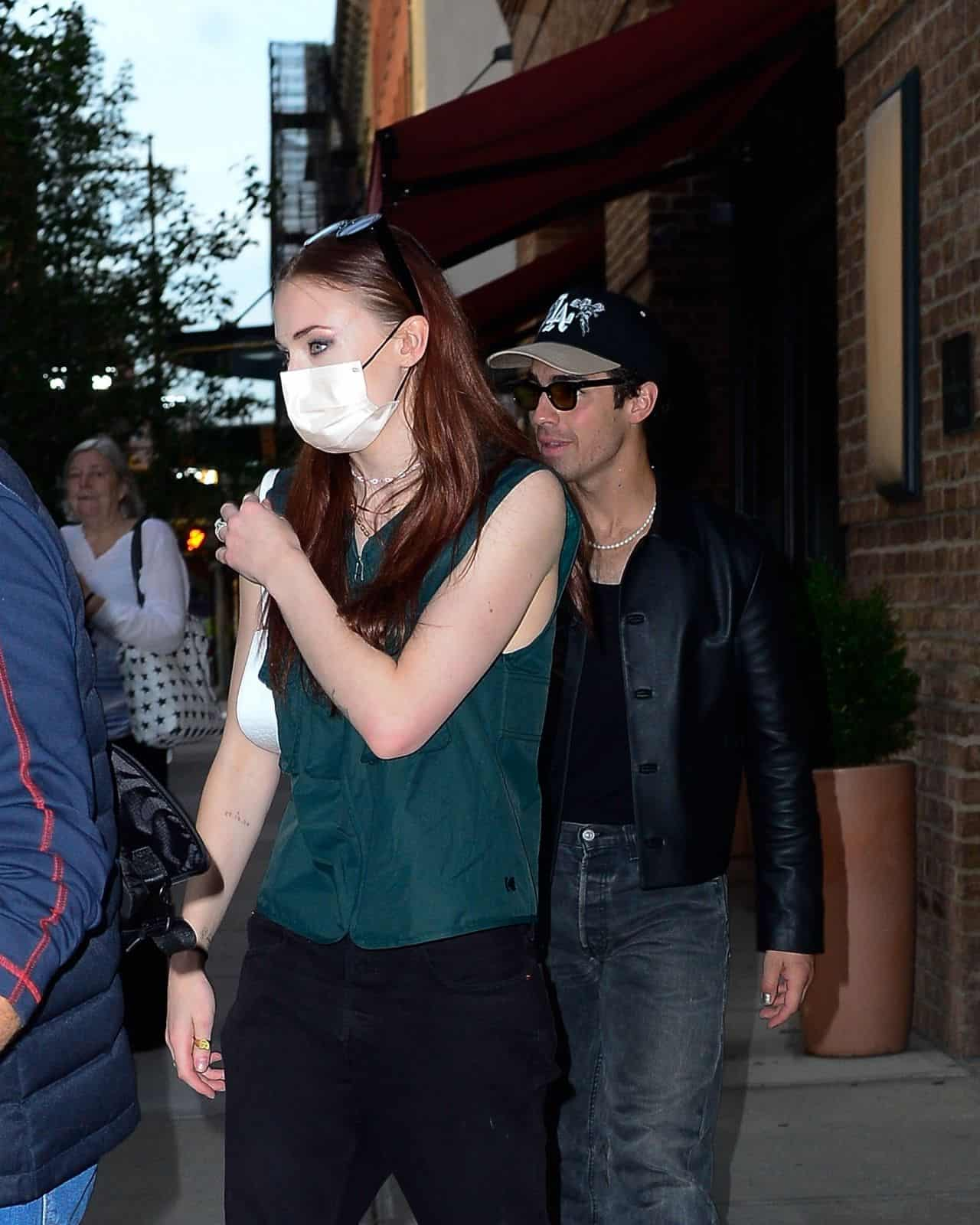 Sophie Turner Was Spotted Leaving the Greenwich Hotel in Tribeca