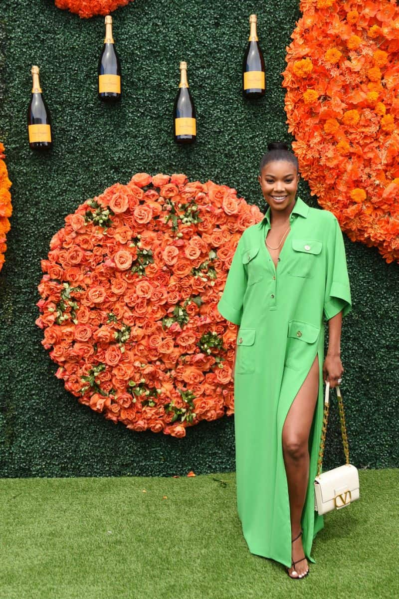 Gabrielle Union Step Out in Style for the 2021 Veuve Clicquot Polo Classic
