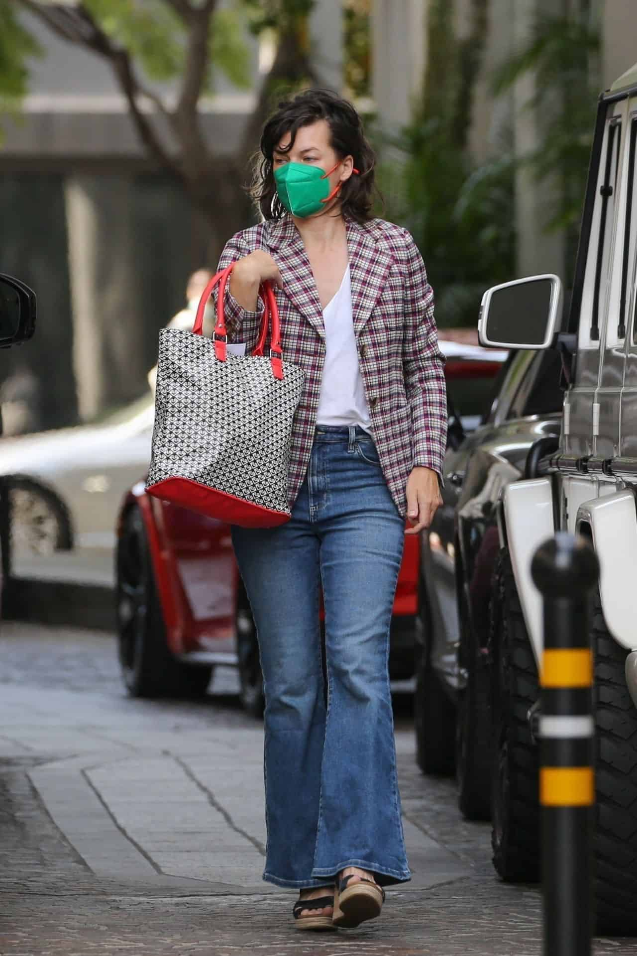 Milla Jovovich Stepped Out on a Lunch with her Husband in LA