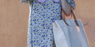 Pregnant Emma Roberts Looks Cute in Babydoll Dress in LA